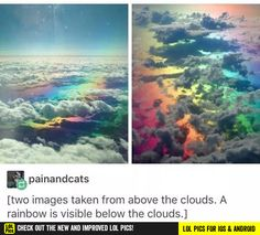 Oh that's beautiful, I've never seen it, but I was wondering if I had a gay comment xD – funny photoshop Tumblr Sky, Tumblr Posts, Pretty Pictures, Cool Photos, Funny Pictures, Tumblr Funny, Funny Memes, Funny Fails, Hilarious
