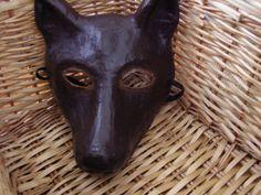 Animal mask paper mache masks  Dog mask dog costume by EpicFantasy, $56.00