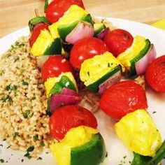 It doesn't matter if you own a grill — you can use your oven to prep these flavorful, Indian-spiced fish and veggie skewers. The marinade uses turmeric, a potent anti-inflammatory, making this dish a perfect choice for people with arthritis aches.