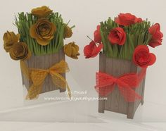 Stampin' Up! - Spiral Flower Tub - Project Class ....  Teri Pocock - http://teriscraftspot.blogspot.co.uk/2015/06/spiral-flower-tub-project-class.html