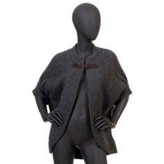 Liu Jo - grafitowy sweter bezrękawnik
