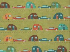 Vintage Trailers 100% cotton fabric 1 yard x 44 by mountainhoney, $11.00