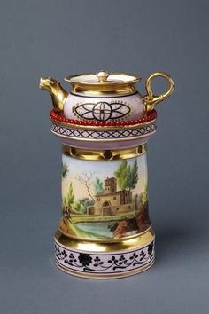 Teapot and spirit lamp | Flamen-Fleury's porcelain factory | V&A Search the Collections