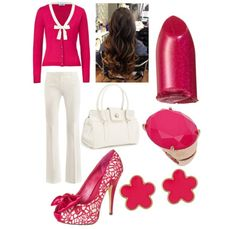 Pink work outfit