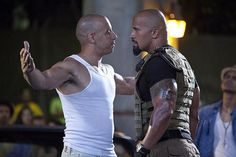 Vin Diesel and Dwayne (The Rock) Johnson - Universal Pictures omygoodness! both of my loves in the same shot!-Jen