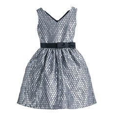 47120e789e1 Sweet Kids Silver Polka Dot Jacquard Special Occasion Dress Girls 4-16
