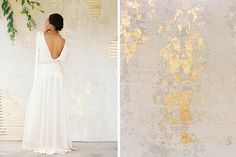 Chaviano Couture Amore Collection - Gilded Plaster Wall created by Blue Eyed Yonder :: www.blueeyedyonder.com
