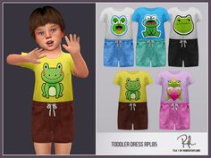 RobertaPLobo's Toddler Boy Collection RPL85 Sims 4 Toddler, Toddler Boys, Sims 4 Clothing, Custom Clothing, Clothing Sets, Muebles Sims 4 Cc, Glitter Shirt, Sims Community, Sims Mods