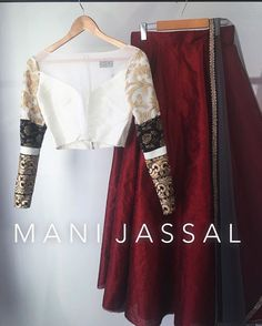 S/O to my #Intern Devina @devinaaa15 for styling this  M A N I  J A S S A L outfit together yesterday at the #showroom  Not only has she been an angel that has entered into my life  when I needed her most, but someone with kick ass style  Vixen Top X Wine Red Skirt X GREY Dupatta  Order: info@manijassal.com  #ootd#ootn#potd#lengha#bustier#bralette#manijassal#mkj#lehenga#indianfashion#weddingseason#canadianmade#indianfashion #indianfashionblogger#designer#fashion#fashiondesigner#fashio...