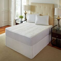 Shop for PureRest Quilted Queen/King/Cal King-size Memory Foam Mattress Pad. Get free delivery On EVERYTHING* Overstock - Your Online Bedding Basics Store! Queen Memory Foam Mattress, King Size Mattress, Best Mattress, Mattress Pad, New Furniture, Bedroom Furniture, Bed Sizes, Design, Rio
