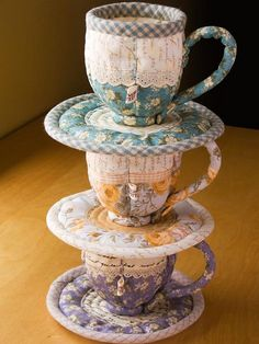 Quilted Teacup & Saucer Sets