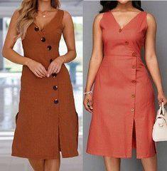 DIY - molde, corte e costura - Marlene Mukai - DIY - patrones, pattern, Vêtements African Attire, African Wear, African Dress, African Print Fashion, African Fashion Dresses, Dress Outfits, Casual Dresses, Fall Dresses, Long Dresses