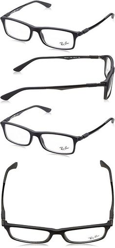 d1c2dc7064bfc Fashion Eyewear Clear Glasses 179244  Ray-Ban Optical Frame  Matte Black  Rx7017 5196-56Mm -  BUY IT NOW ONLY   53.59 on eBay!