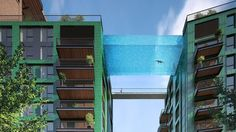 A new development in London will feature a 'sky pool' suspended between two apartment buildings.
