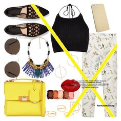 """Mellow Yellow: Mango"" by emilylouisehale ❤ liked on Polyvore featuring MANGO, River Island, Balenciaga, NYX and Winky Lux"