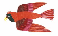 Eric Carle Blog: 2017 Collage Drawing, Collage Illustration, Eric Carle, Bird Canvas, Canvas Wall Art, Painting Frames, Painting Prints, Wall E Eve, Bird Clipart
