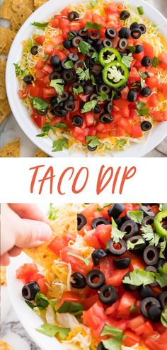 A delicious creamy taco dip that's super easy and quick. The perfect appetizer or dip for tailgating. Made with real food and low carb. Tailgate Appetizers, Cheese Appetizers, Healthy Appetizers, Appetizer Recipes, Tailgating, Mexican Food Recipes, Real Food Recipes, Vegetarian Recipes, Keto Recipes