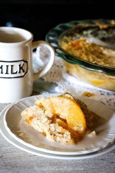 Peach Cobbler Breakfast Bake (THM E, Low Fat, Sugar Free)
