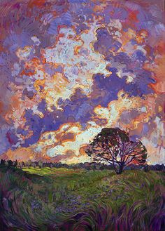 Sky Burst Painting by Erin Hanson