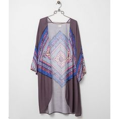 O'Neill Hattie Cardigan - Pink/Blue/Purple X-Small ($17) ❤ liked on Polyvore featuring tops, cardigans, purple top, pink cardigan, cardigan top, blue cardigan and blue top