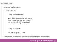Veterinarians want a beer too