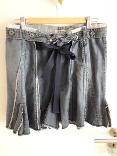 40b538cf10d0 Jupe en jean originale Mango - Jupe en jean très originale Mango Taille 40  Petite ceinture