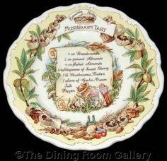 FOR SALE Royal Doulton BRAMBLY HEDGE recipe MUSHROOM TART jill barklem 8  wall PLATE 1st #followvintage