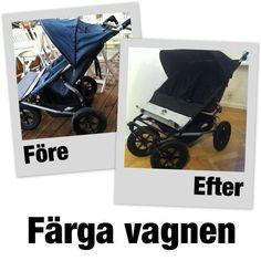 Mer om att färga barnvagnen!