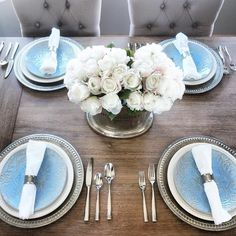 such a lovely table - we're ready for spring! #mypotterybarn