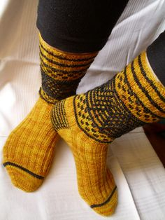 Ravelry: Magickal Quidditch Socks pattern by Jennifer Dassau