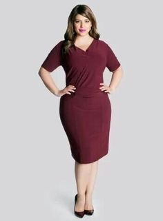 4ea590d0be This Burgundy Brooke Sheath Dress - Plus by IGIGI is perfect!