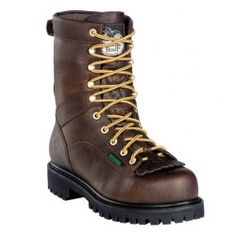 Special Offers Available Click Image Above: Georgia Boot - Steel Toe Heritage Vibram (men's) - Tumbled Chocolate Good Work Boots, Logger Boots, Georgia Boots, Stylish Boots, Goodyear Welt, Men S Shoes, Top Shoes, Steel Toe