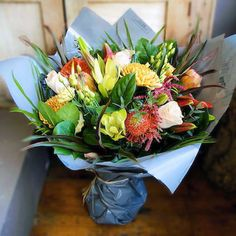 Bloom Magic - Flower Delivery Ireland - The Artemis bouquet presents a warm glow of Autmn colours that would warm up any home. It is extremely suitable for Birthday Flowers. Get Well Flowers, Send Flowers, Same Day Flower Delivery, Glow, Bouquet, Colours, Table Decorations, Artemis, Birthday