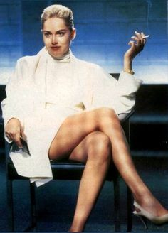 Sharon Stone >>> Catherine Tramell -  As Played By: Sharon Stone in Basic Instinct (1992)  Not only does Tramell tick off the usual 'femme fatale' boxes (sex as a weapon, mercenary obsession with money etc.), she also has a sadistic streak a mile wide, wrecking lives willy-nilly for her own amusement.