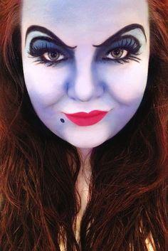 disney ursula makeup Halloween ideas 2016 Disney Ursula Make-up Cool Halloween Makeup, Halloween Makeup Looks, Halloween Kostüm, Halloween Costumes, Halloween College, Halloween Inspo, Fairy Costumes, Mermaid Costumes, Ursula Makeup