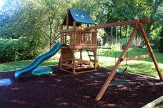 New playground using Playsafer rubber mulch #rubbermulchphotocontest @rubberecycleus