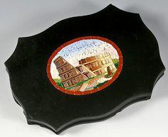 Antique Grand Tour Micro Mosaic Plaque, The Coliseum, Rome - Micromosaic in Pristine Condition!