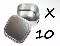 10 X 4-oz Square Slip On Lid Survival Metal Tin Can Container Box Kit Crafts Use in Sporting Goods, Outdoor Sports, Camping & Hiking, Emergency Gear, Other Emergency Gear   eBay