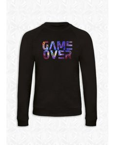 SWEAT NOIR HOMME GAME OVER 80% coton - 20% polyester http://gnoufi.com/word-effect/178-sweat-homme-noir-game-over.html