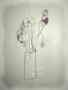 fleurs des champs fil de fer