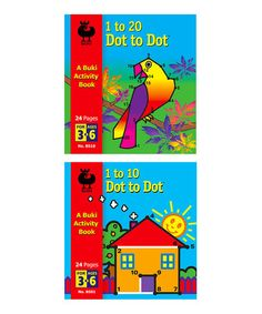 Loving this 1 to 10 & 1 to 20 Dot to Dot Activity Book Set on #zulily! #zulilyfinds