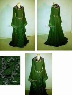 Green medieval gown recreation