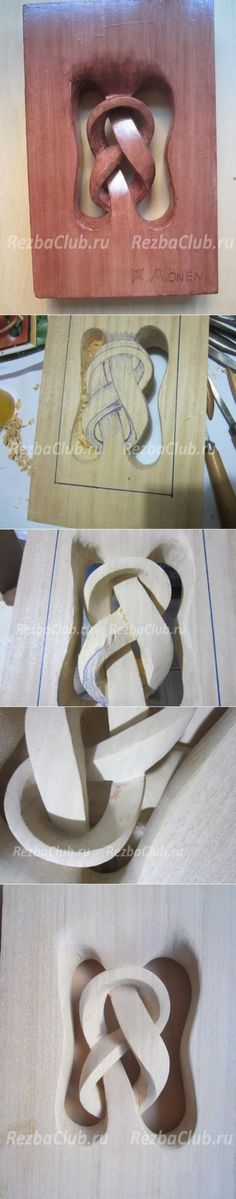 Wood Art # 87 Panel Knot of wood - 5 steps Wood Carving Patterns, Wood Carving Art, Carving Designs, Wood Art, Wood Projects, Woodworking Projects, Craft Projects, Projects To Try, Craft Ideas