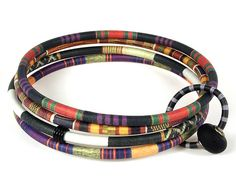 Bangles with Bead-African Pattern Sharon MacLeod