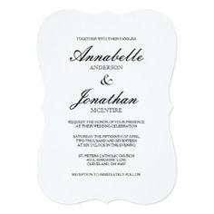 Typography Wedding Invitations & Announcements | Zazzle