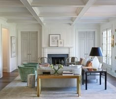 Anne Decker Architects | Selected Works | New Homes | Kent House Like paneled French doors, and fireplace