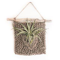 Hand Knit Air Plant Hanger — Source & Season