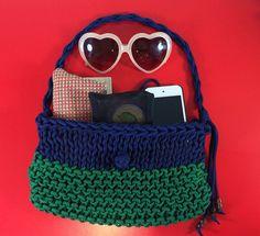 Knit Textile Handbag Shoulder Bag Purse Knot by agirlnamedsoo