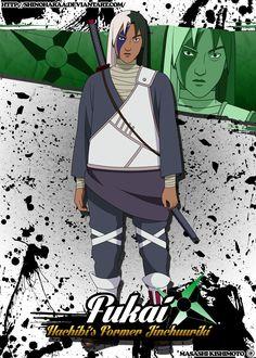 Fukai is from Naruto Fukai was a high-ranking Kumogakure shinobi as well as the predecessor of Killer B as the jinch&. Kakashi Hatake, Naruto Uzumaki, Boruto, Naruto Art, Anime Naruto, Edo Tensei, Naruto Characters, Fictional Characters, Kohaku
