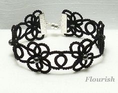 Tatted Lace jewelry Custom Bracelet Halo MTO in by SnappyTatter